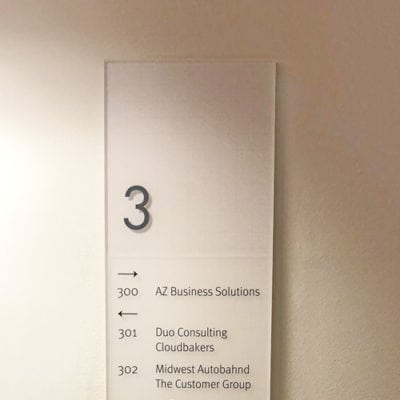 Wayfinding for R2 Companies Office Building