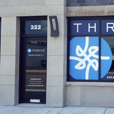 Thrive Therapy Retail Window Graphics