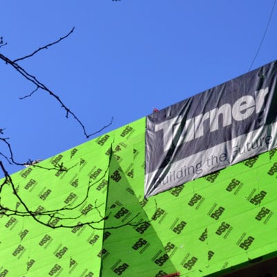 Construction Banner Printed and Installed for Turner