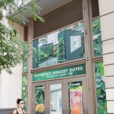 Commercial Window Decals for Embassy Suites