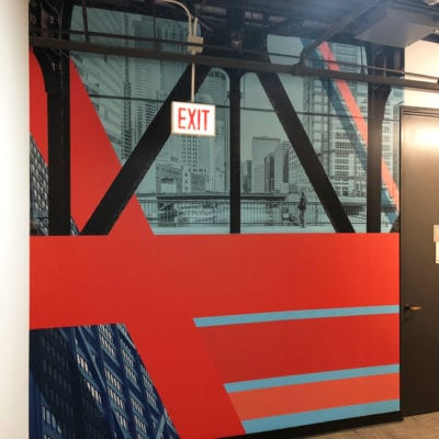 Wide Image of CBRE Hallway Wall Graphic