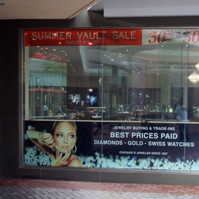 Retail Window Graphics at C.D. Peacock