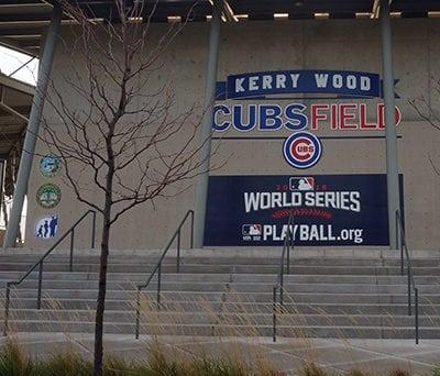 MLB World Series Banners on Display