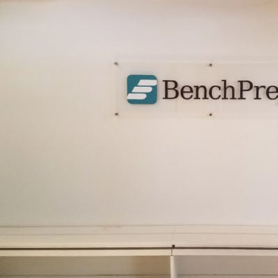 Bench Prep Acrylic Sign With Dimensional Lettering