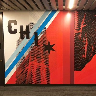 CBRE Chicago Wall Graphic