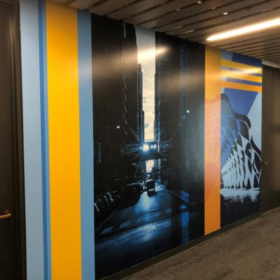 Commercial Wall Graphics at CBRE