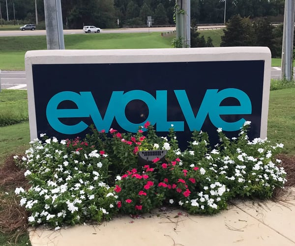 Monument Signage With Powder Coated Painted Aluminum Panels (and Aluminum Painted Dimensional Letters)