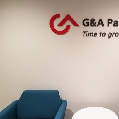 G&A Partners Dimensional Lettering