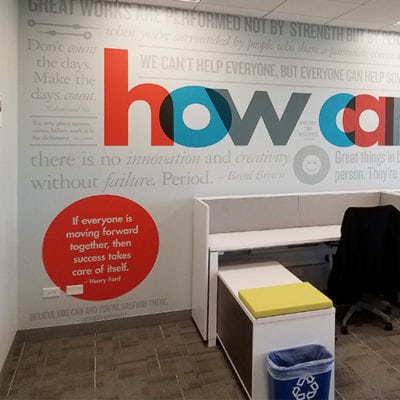 G&A Partners How Can I Help Full Wall Graphic