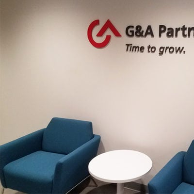 G&A Partners Time to Grow Dimensional Lettering