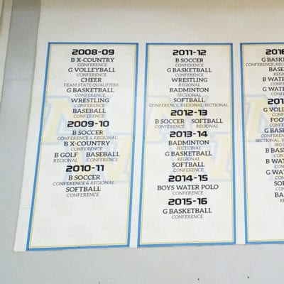 Award Banners Printed and Installed at Maine West
