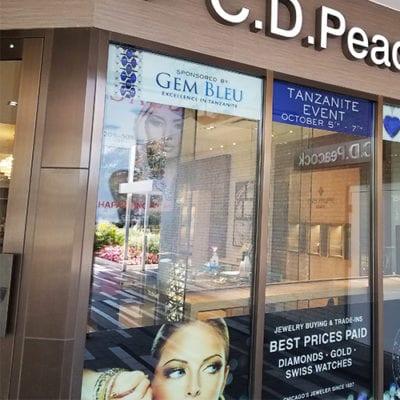 CD Peacock Oak Brook Window Graphics