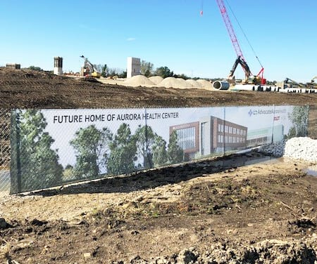 Fence Graphics Installed at Aurora Construction Site
