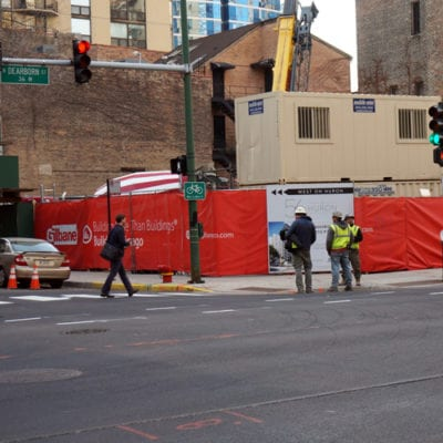Additional View of Construction Fence Screens