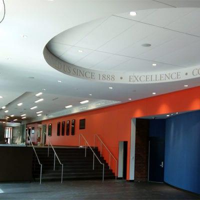 Latin School Ceiling Display Graphics