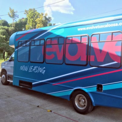 Evolve Vehicle Wrap Enhances Mobile Awareness