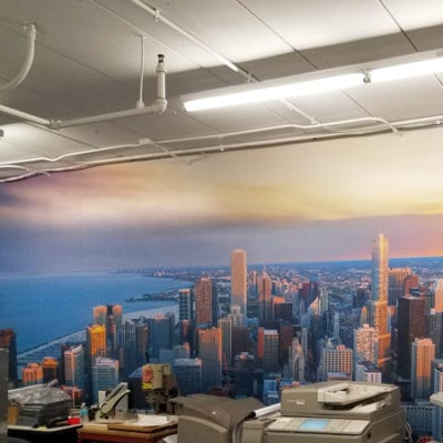 Wall Graphics Installed in Copy Room