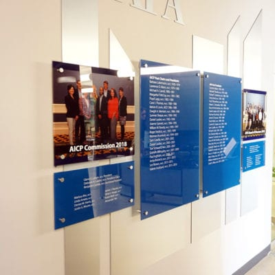 Acrylic Display With Standoffs Installed at American Planning Association