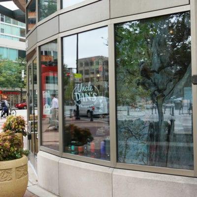 Window Graphics at Uncle Dan's Evanston Store