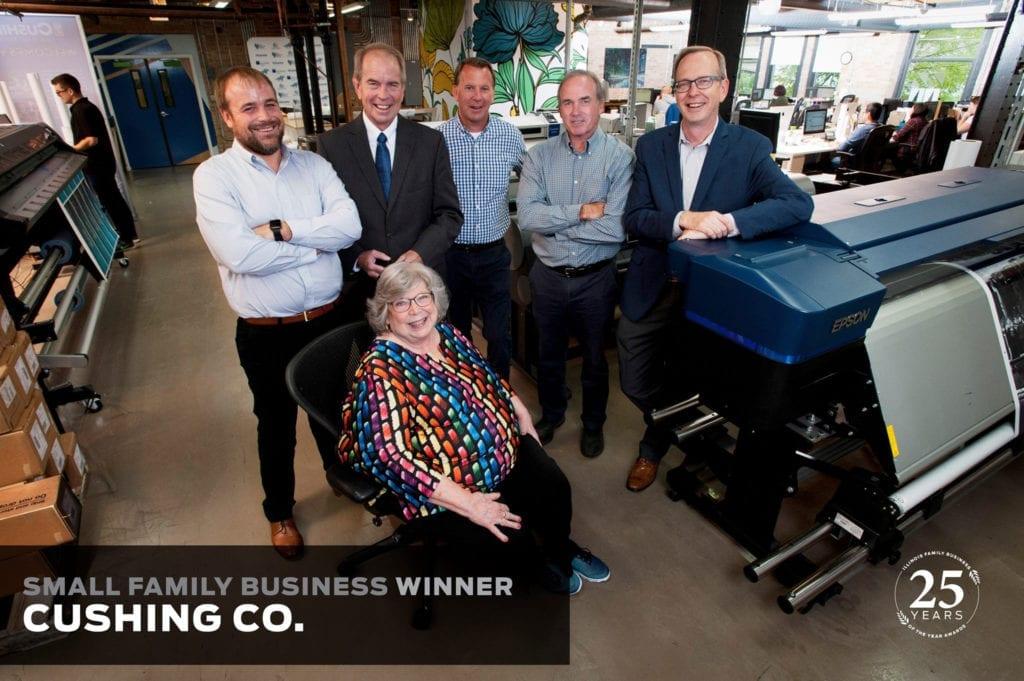 Cushing takes home a torch award 5 cushing loyola photo family business award