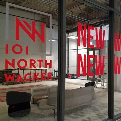 JLL 101 N Wacker Window Graphics