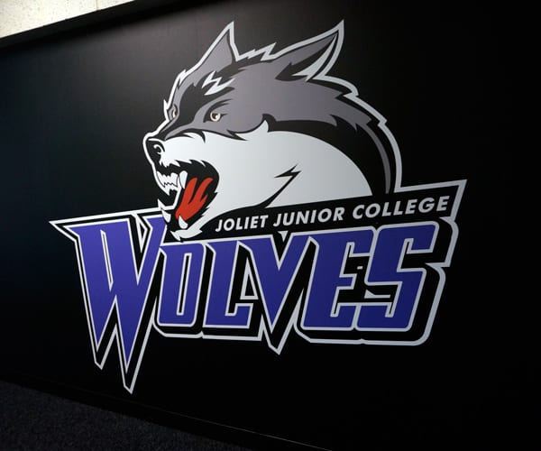 Logo Wall Graphics Installed at Joliet Junior College