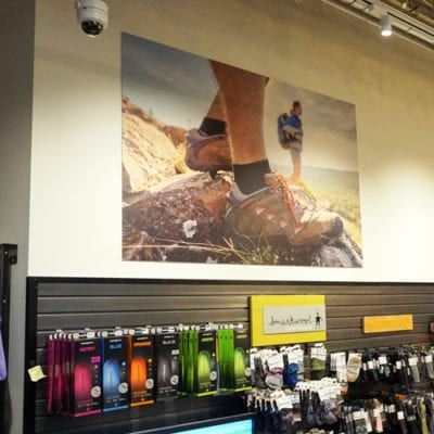 Product Throughout the Retail Shop Incorporates Graphics