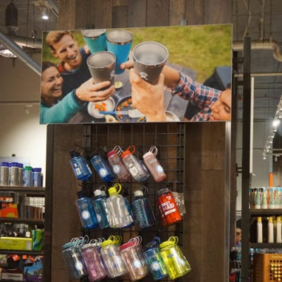 Retail Prints Attract The Eye Positioned Above Product