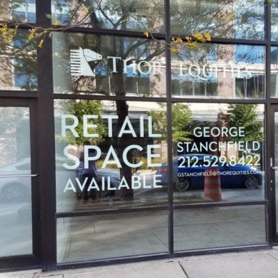 Thor Equities Real Estate Window Graphics