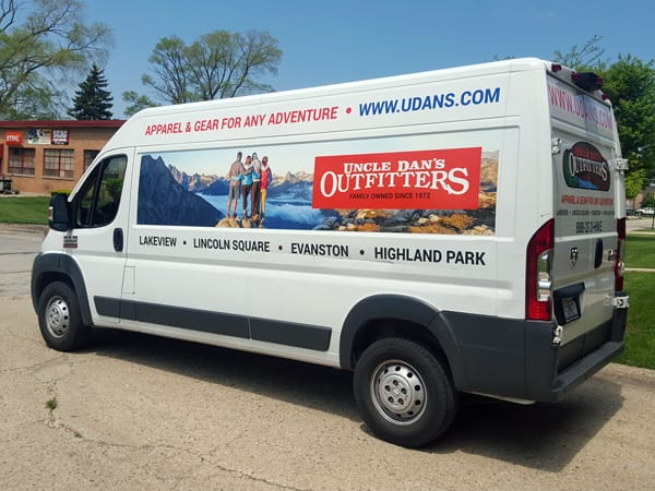 Vehicle Wrap for Uncle Dan's Outdoor Store