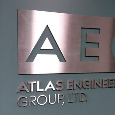 Dimensional Letters and Logo for Atlas Engineering