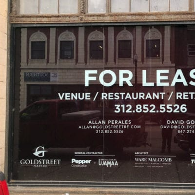 For Lease Window Signage