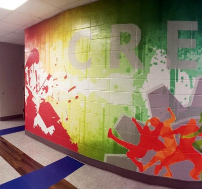 Hallway Mural at Hille Middle School