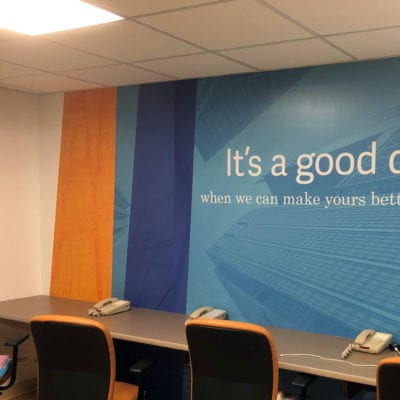 Printed and Installed Office Wall Graphics