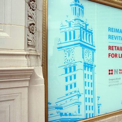 Printed and Installed Window Graphic at Wrigley Building