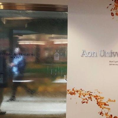 Aon University Dimensional Lettering