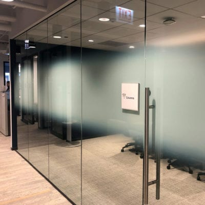 Privacy Film In Office Produced With a Custom Gradient