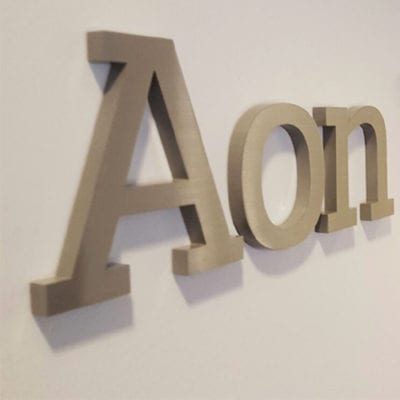 Dimensional Lettering Aon University