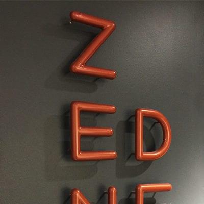 Dimensional Lettering Uptake Zen Den