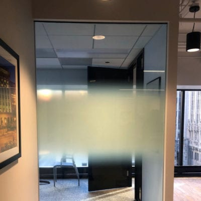 Frosted Privacy Glass Film With Custom Gradient