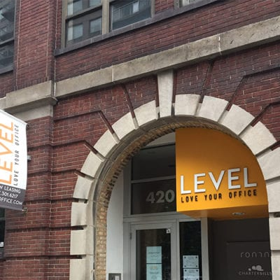 Level Office Exterior Dimensional Lettering