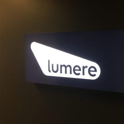 Lumere Lit Dimensional Signage