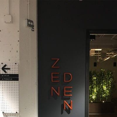Uptake Zen Den Custom Lit Dimensional Lettering