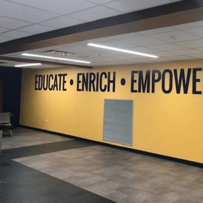 Leyden High School Wall Graphics