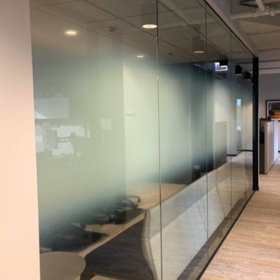 Decorative Film Installed to Glass Windows (Conference Room)