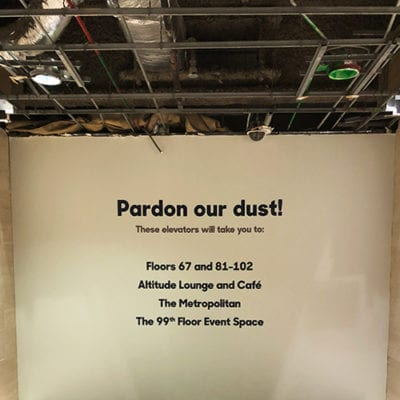 r2 Pardon Our Dust Wall Graphic