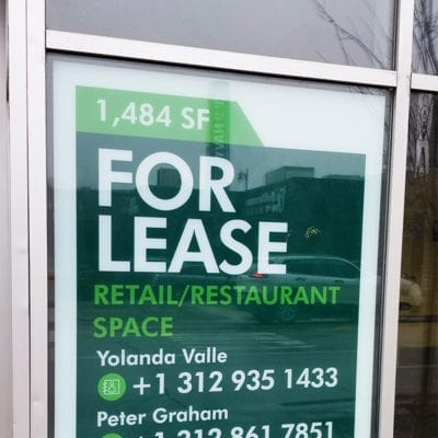 CBRE For Lease Signage