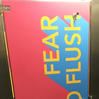 Fear No Flush Exterior Stall Graphics