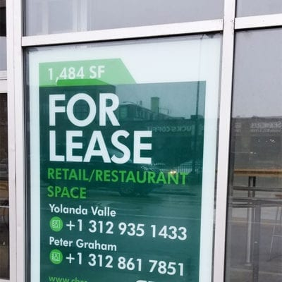 For Lease Signage CBRE