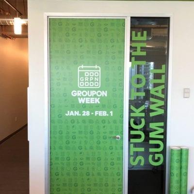 Groupon Week Door and Window Graphic